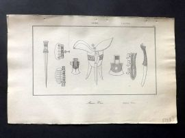 L'Univers C1850 Antique Print. Chinese Weapons & Vase 44